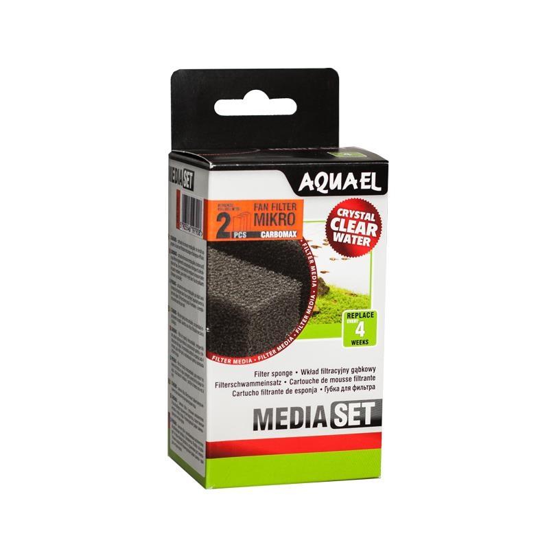AquaEL Filterschwamm FAN Mikro CARBOMAX 2 Stück
