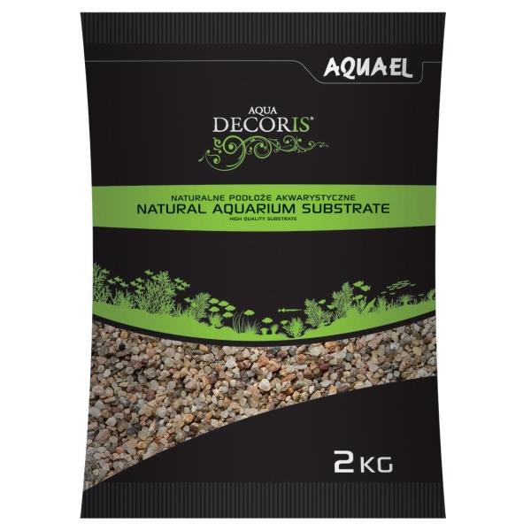 AquaEL Aquarium gravel natural coloured, different grain...