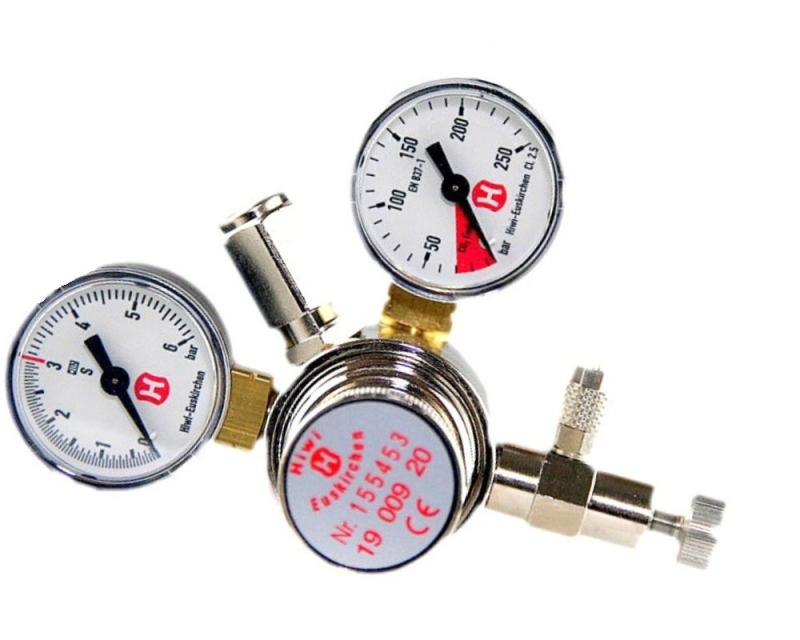Hiwi Druckminderer CO2 Mehrweg mit Rückschlagventil