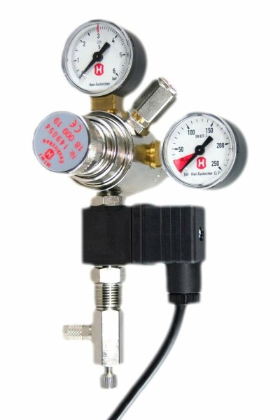 Hiwi Druckminderer CO2 Mehrweg mit MV + RV