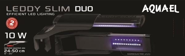 AquaEL LEDDY Slim Duo Sunny+Plant 10 Watt schwarz 24-50 cm