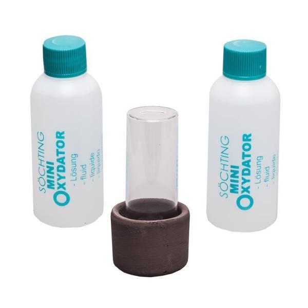 Söchting Mini Oxydator für Aquarien bis 60 L + 1 Liter 6% Lösung und 2x 82,5 ml mit 4,9%