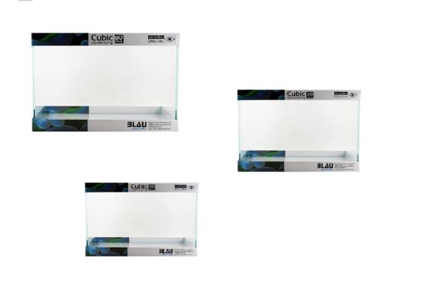 BLAU Cubic Aquascaping Rechteck verschiedene Größen 28-80 L