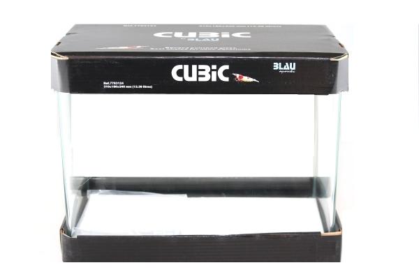 BLAU Cubic Nano rectangular basin 13 liters float glass 31x18x24 cm