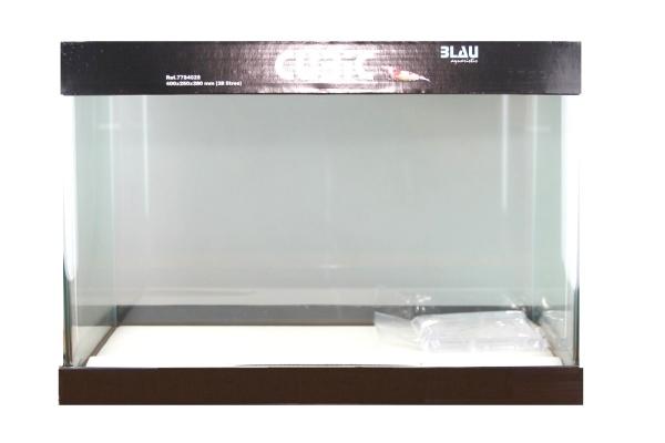 BLAU Cubic Nano rectangular basin 28 litres float glass 40x25x28 cm.