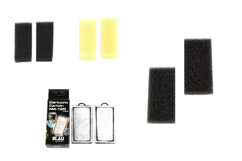 BLAU Filterschwamm FM 60/120 verschiedene Größen