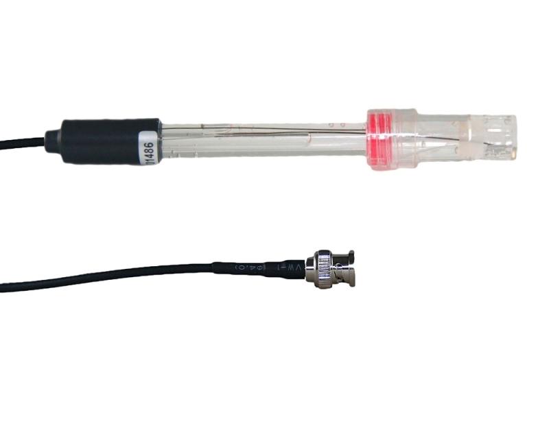STATTRAND AQUARISTIK pH-Elektrode transparent mit BNC-Stecker für Milwaukee pH-Controller
