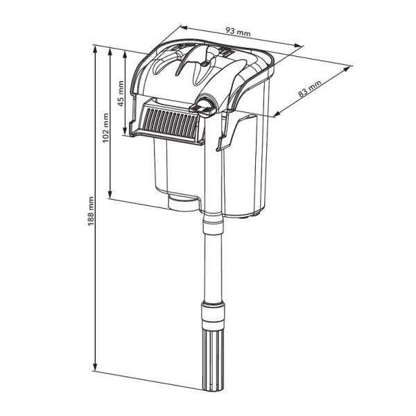 Backpack filter AquaEL Versamax Mini