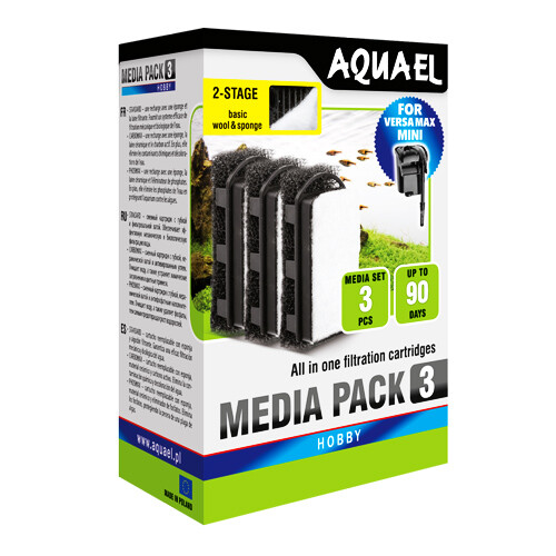 3x Ersatzfilter für AquaEl Versamax Mini