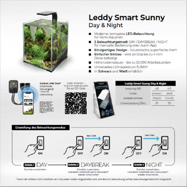 Aquael Leddy Smart Night + Day Schwarz