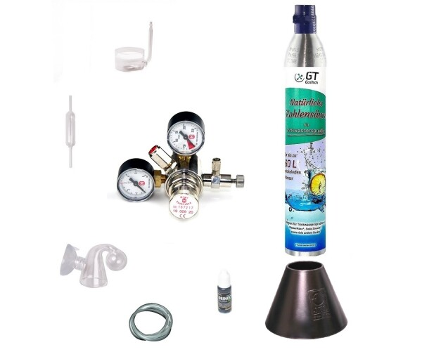 CO2 Anlage Hiwi 425 Profi mit Wassersprudler-Flasche (kompatibel zu Sodastream u.a.) 1 Flasche