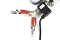 Hiwi Doppelkammer CO2 Druckminderer mit Magnetventi 2tlg.Verteiler