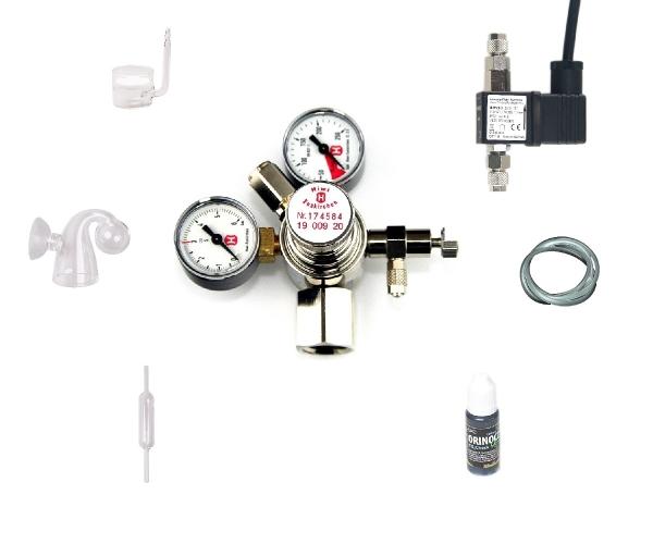 CO2 Acryl Anlage Hiwi 425 Profi ohne Flasche (kompatibel zu Sodastream u.a.)