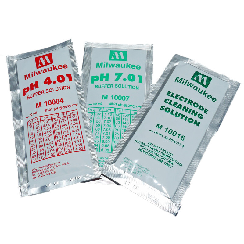 Milwaukee pH calibration and cleaning solution set (3x20ml)