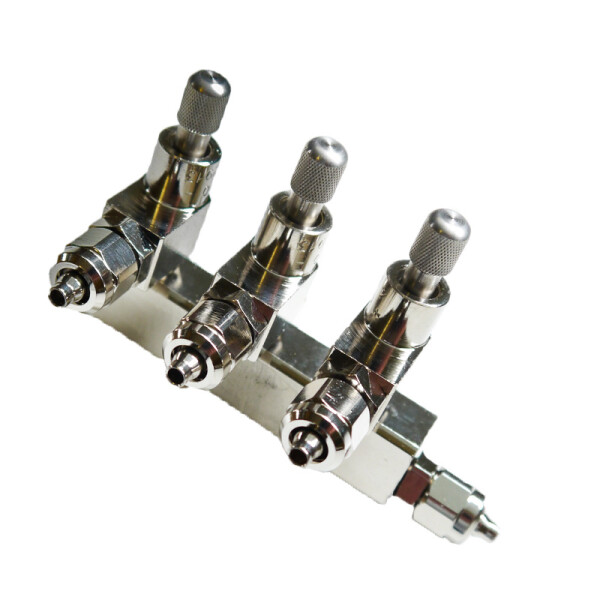 STATTRAND CO2 distributor 3-way with check valve