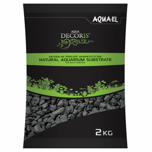 AquaEL Aquarium gravel black 2-4 mm 2 kg